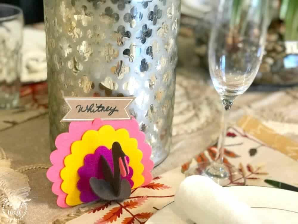 Nameplate Turkey Tablescape Thanksgiving