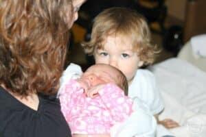 Newborn Baby Sibling Hospital