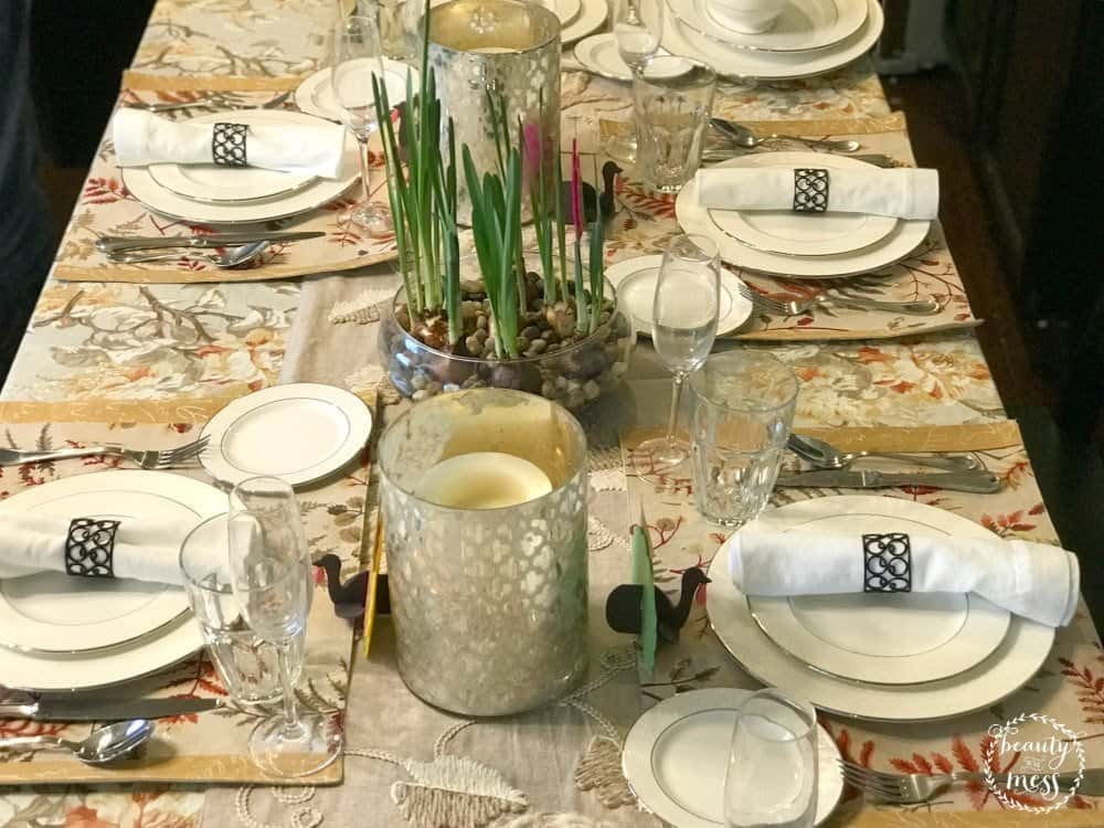 Thanksgiving Tablescape Gathering with Friends Turkey