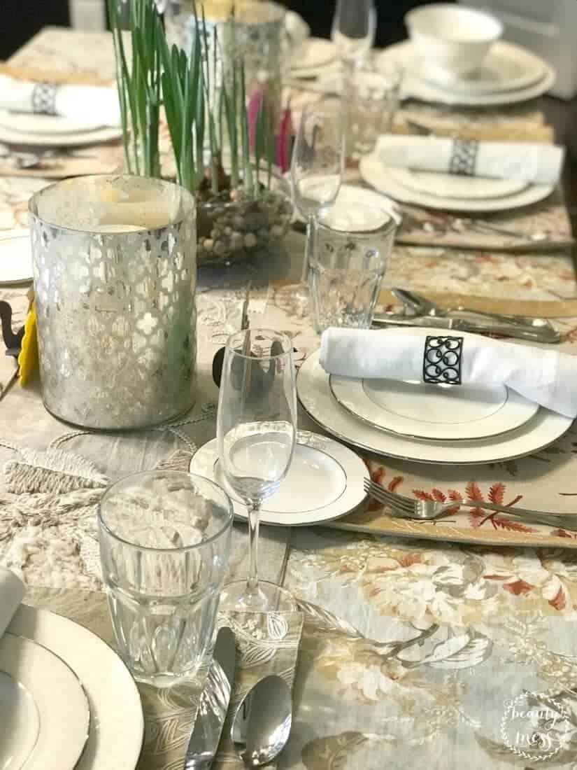 Thanksgiving Tablescape Turkey Gathering