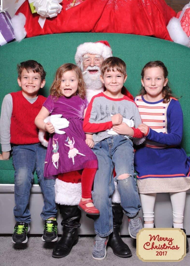 Photos with Santa at HGTV's Santa HQ