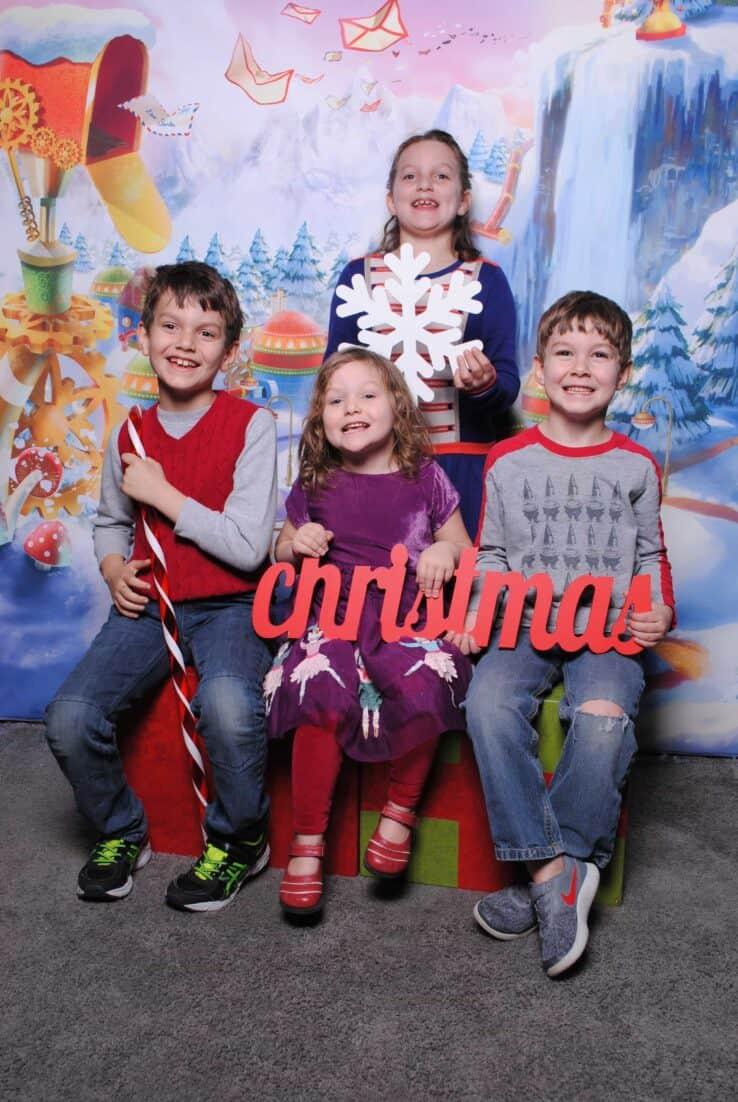 Holiday Photo with snowflake HGTV's Santa HQ