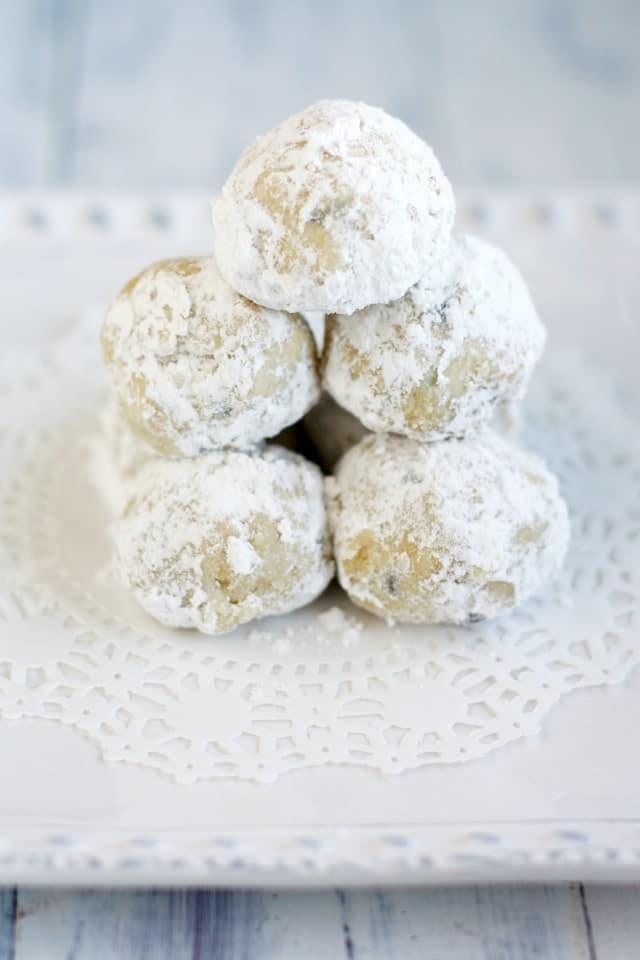 gluten free snowball cookies