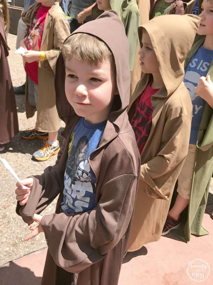 Jedi Training Academy Walt Disney World Preschoolers