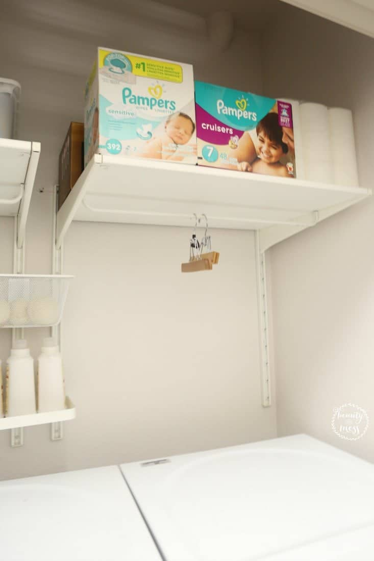 Diapers and Wipes Storage Stocked Up