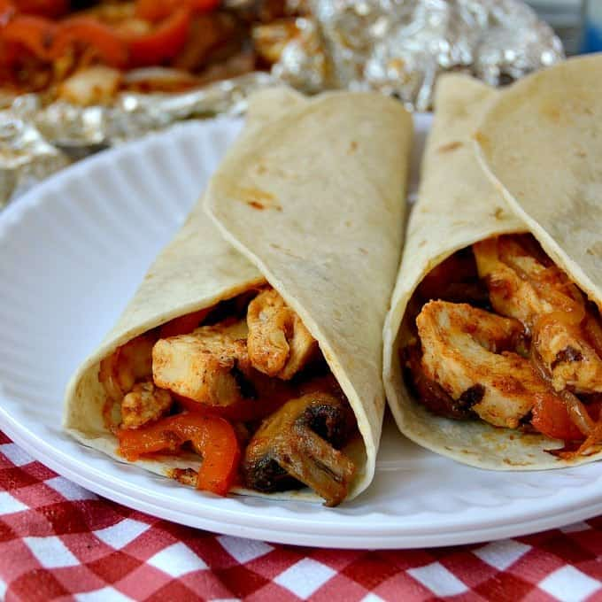 Fajita Chicken Foil Packet