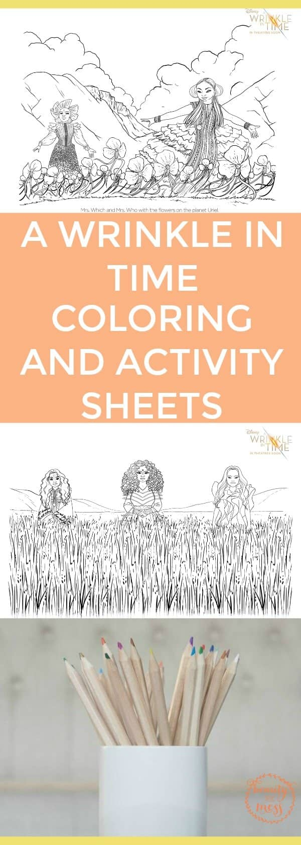 Print out these #AWrinkleinTime #ColoringPages and #ActivitySheets and have fun, Warriors. #beawarrior via @simplifyingfamily