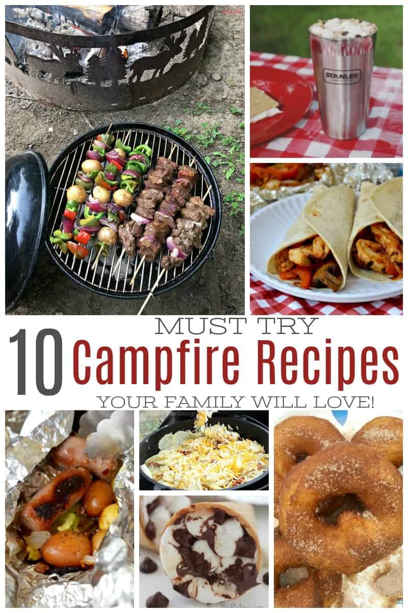 Looking for family-friendly campfire recipes? Don't miss these 10 must-try campfire recipes your family is sure to love on your next camping trip. #familytravel #campingrecipes #campfire via @simplifyingfamily