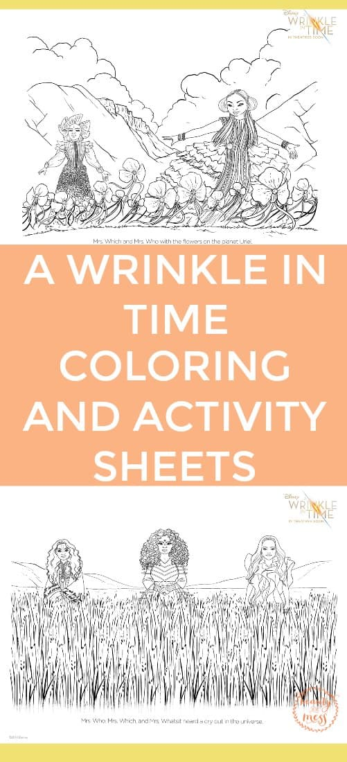 Coloring and Activity Sheets for A Wrinkle in Time