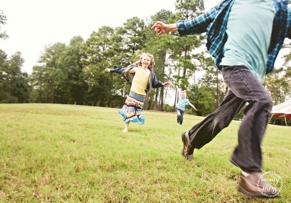 Family Activities for Spring Playing tag