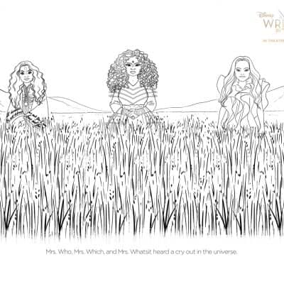 A Wrinkle in Time Coloring Pages and Activity Sheets