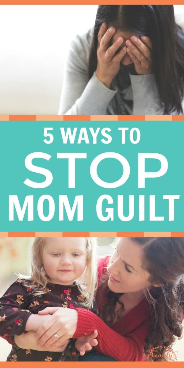The inner dialogue of mom guilt is deafening. It causes anxiety. The monologue makes us question everything. Stop mom guilt in its tracks with these tactics. #momguilt #motherhood