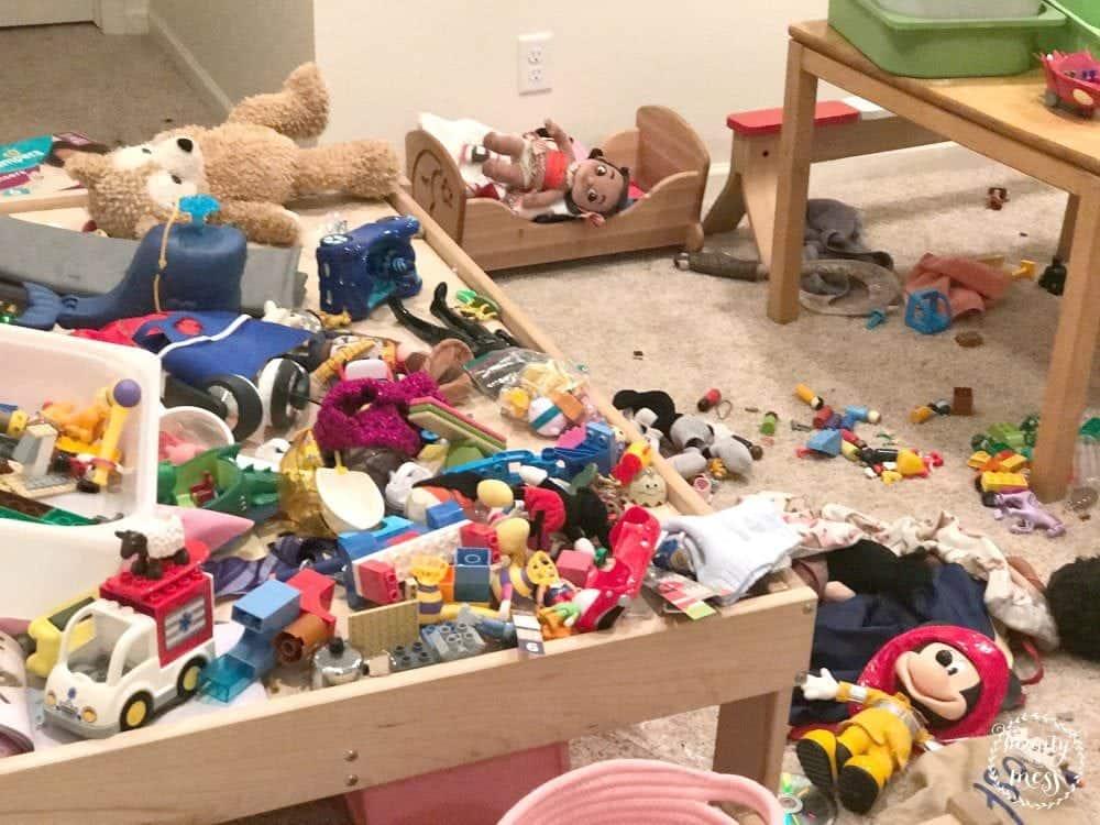 Messy Playroom Toys