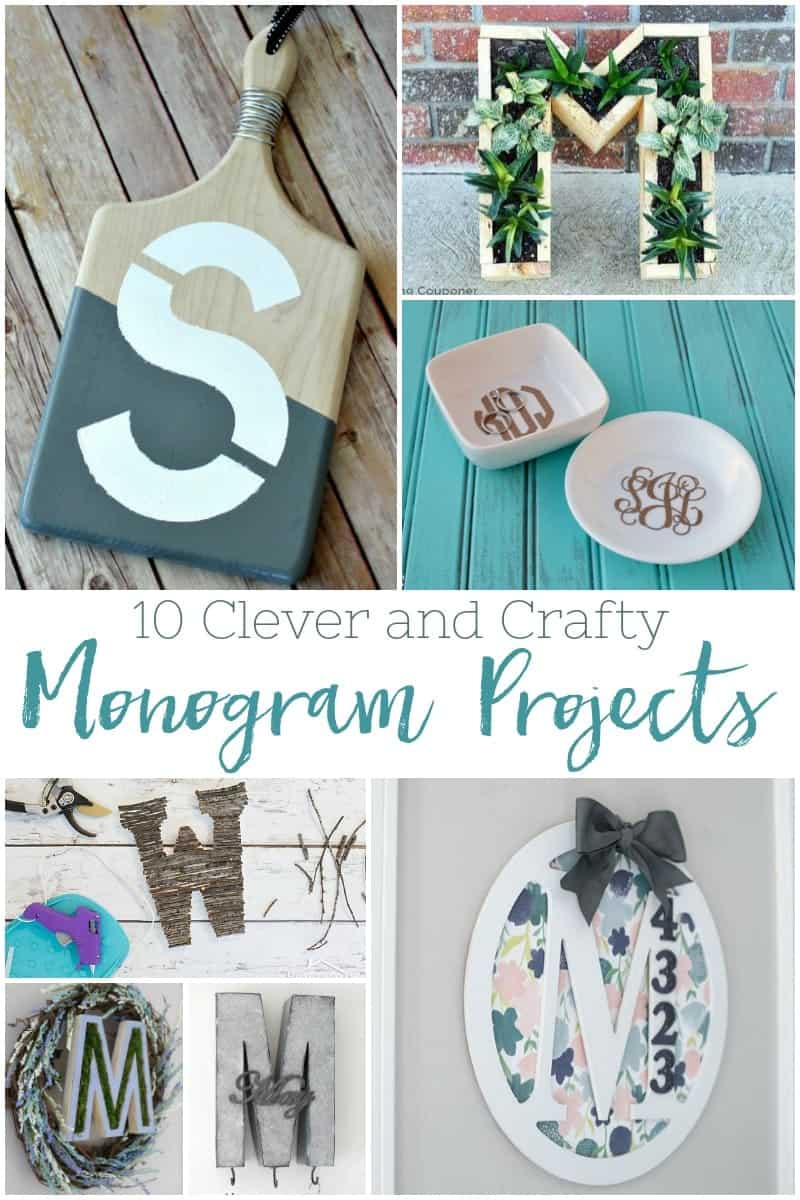 Whether you are looking for a Spring Project or a gift, here are ten clever and crafty monogram projects you can do this weekend. #monogram #monogramcrafts #homemadegifts via @simplifyingfamily