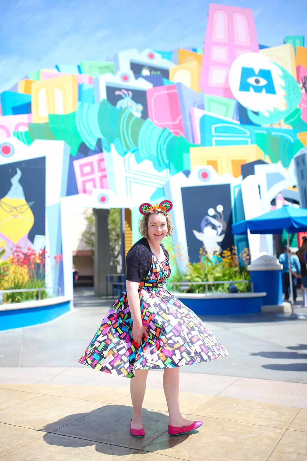 With the opening of Pixar Pier in June and the start of Pixar Fest in April, it's going to be one gigantic, intergalactic, BFF party filled with laughter and fun at Disneyland Resort and Disney California Adventure. Here's what you should wear! #disneybounding #disneyland #pixarfest #disneyoutfit #disneyideas #pixar #monstersinc