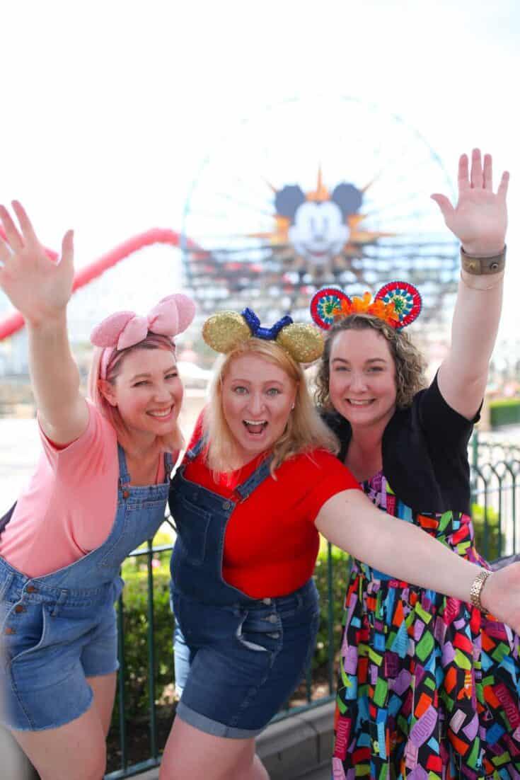 Fun with friends Disney California Adventure Park