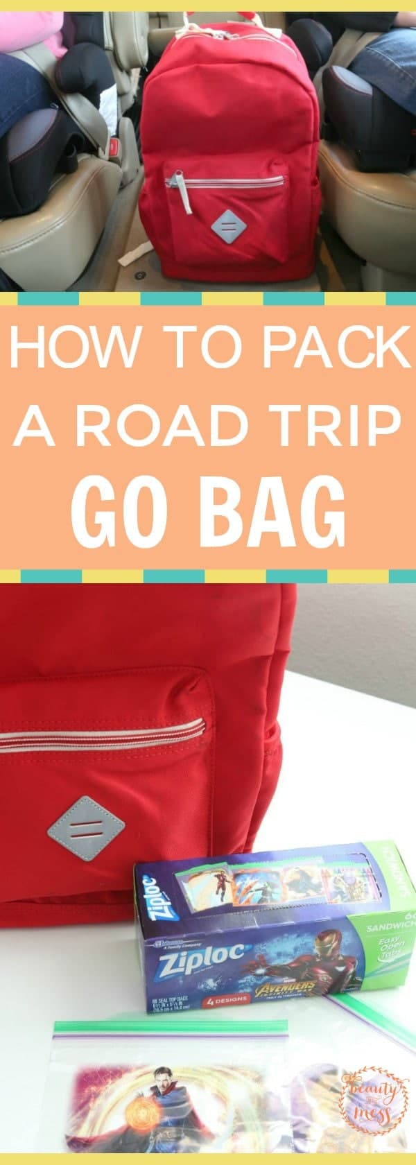 The #roadtrip go bag is your #sanitysaver for road trips this #Summer.