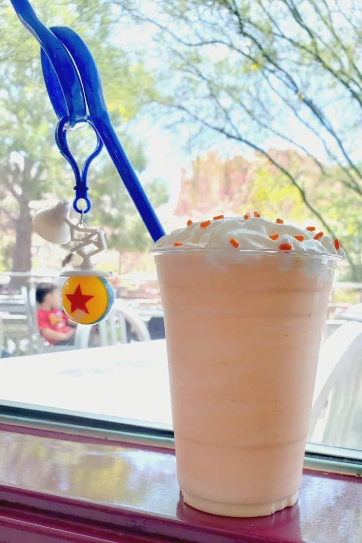 Pixar themed milkshake at Pixar Fest