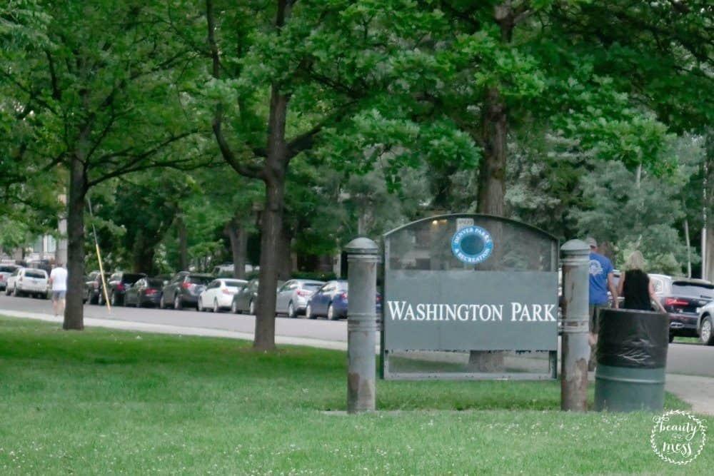 Washington Park Sign Donate Life