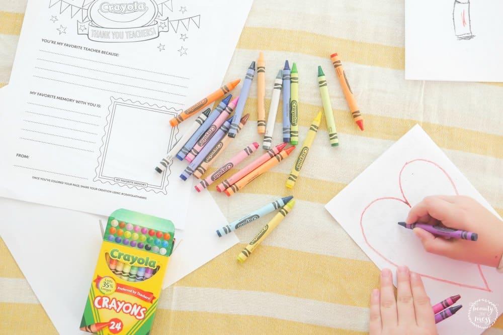 Crayola Thank You Notes