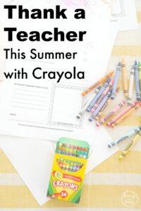 Thank a Teacher This Summer with Crayola