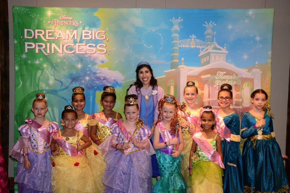Princesses at Disney's Dream Big Princess Event at Disney Springs