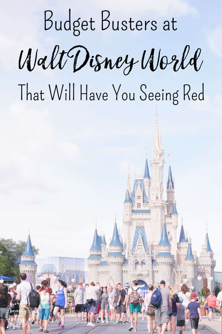 You plan out all the details carefully, but once you get to #WaltDisneyWorld there are some potential #budgetbusters to look out for. Here are five big ones. #disneyplanning #disneyvacationplanning #disneybudget