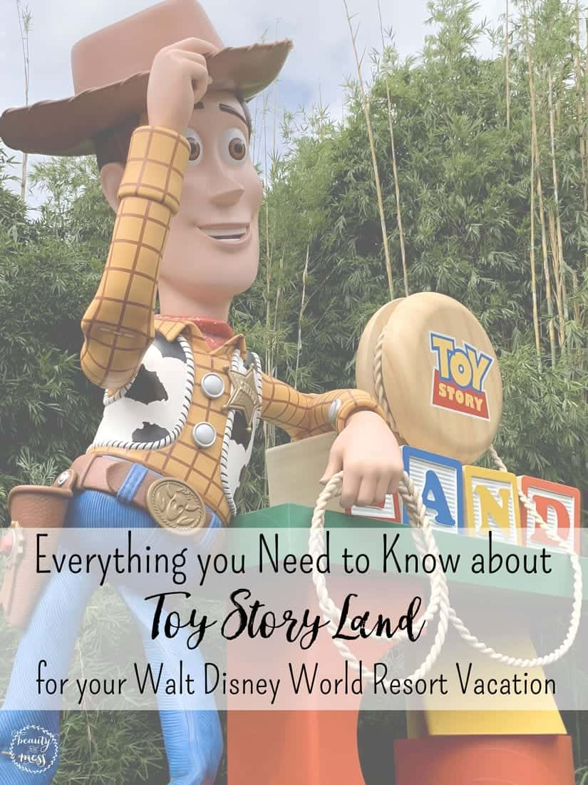 """Planning your Walt Disney World Vacation? Toy Story Land takes you to """"Infinity and Beyond"""" with new attractions, dining locations, shopping and more. With so much to see and explore, I've got everything you need to know about Toy Story Land in Walt Disney World. #ToyStoryLand #WaltDisneyWorld #DisneyVacation"""