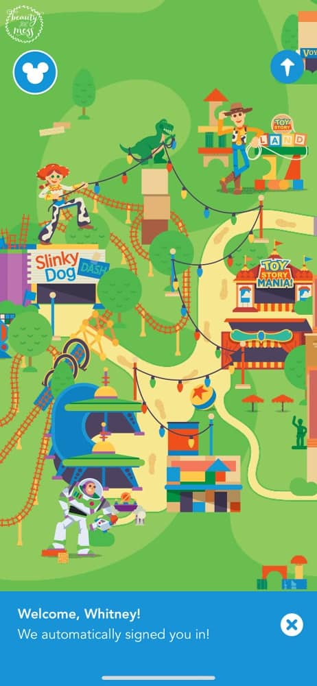 Play App Toy Story Land DHS