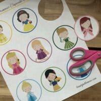 Disney Princess Cupcake Toppers with Printable and DIY Tutorial