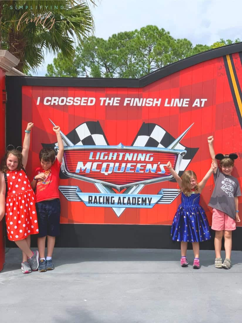 Lightning McQueen invites rookie racers to Lightning McQueen's Racing Academy to learn the rules of the road from the Piston Cup Champion himself. KA-CHOW! When the race is over, guests walk into the world of Cars in the courtyard outside Lightning McQueen's Racing Academy. This is where you can meet Cruz Ramirez and snap a photo with the champion racer, and dance with DJ, the ultimate party on wheels. via @simplifyingfamily
