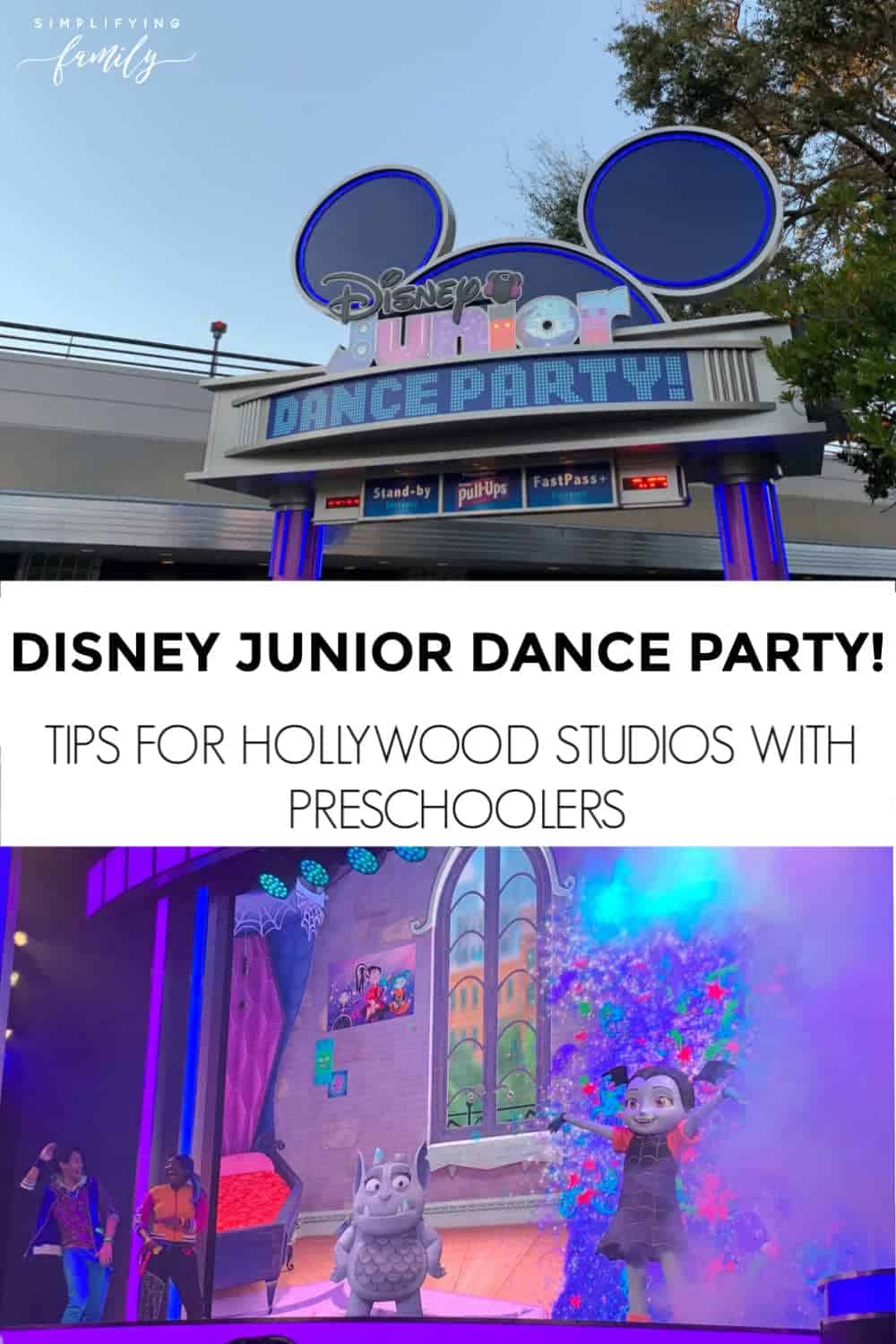 Considering visiting Walt Disney World Resort? Don't miss these tips for visiting Disney's Hollywood Studios with Preschoolers! Including our favorite place to see Disney Junior characters! #nowmorethanever #disneyjunior #waltdisneyworld #hollywoodstudios via @simplifyingfamily