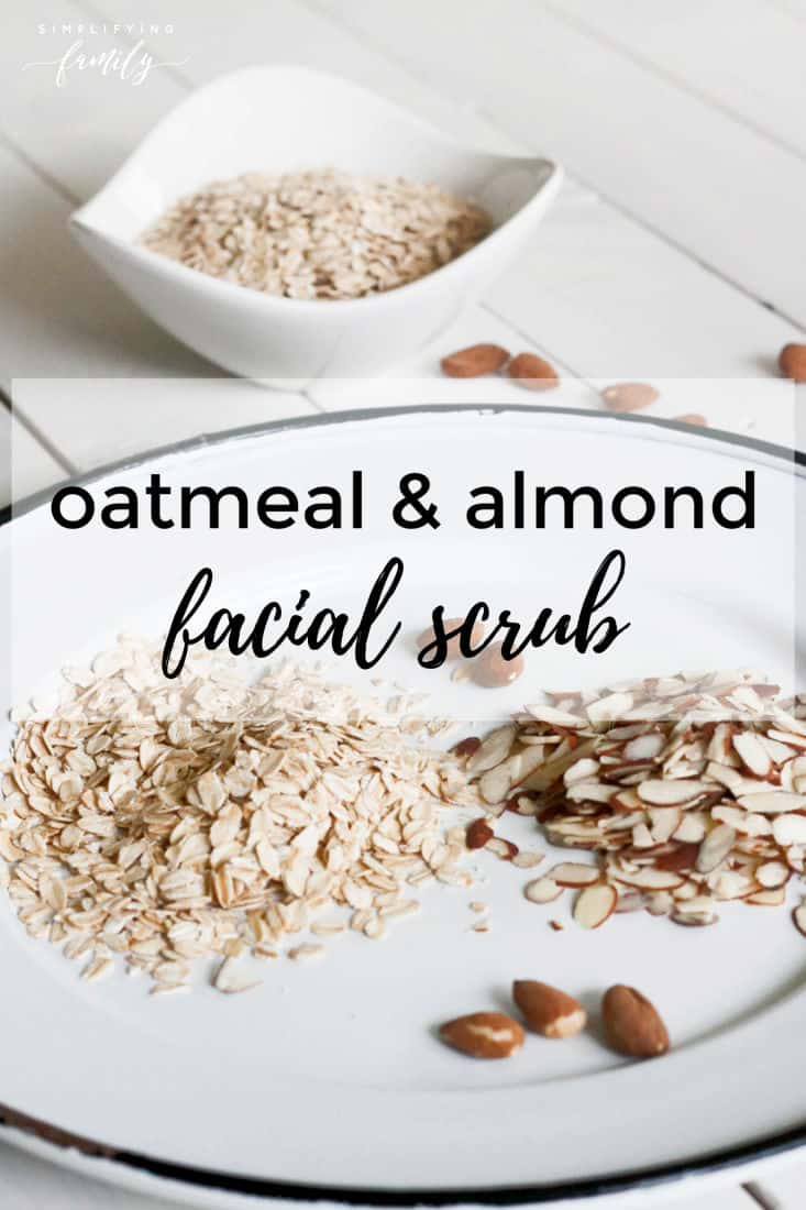 This DIY facial scrub is perfect for self-care days and Spa Days with little ones. The oatmeal is mild and soothing, making it perfect for those who have sensitive skin. It also removes embedded dirt and helps prevent blackheads. #DIYmask #facialmask #selfcare via @simplifyingfamily