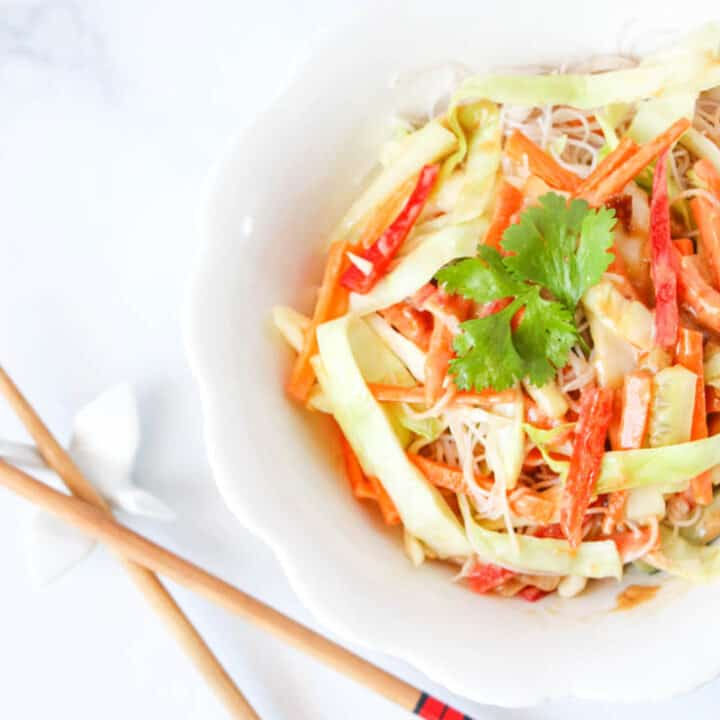 Easy and Delicious Spicy Thai Noodle Bowl