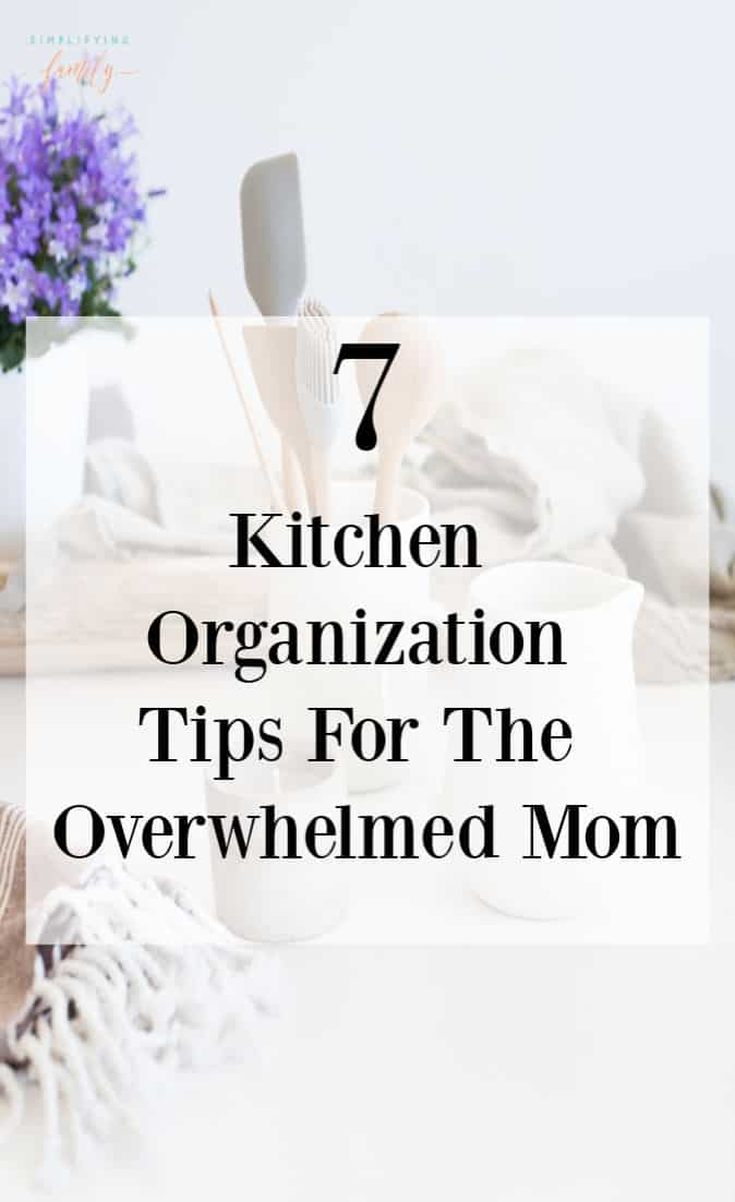 With so much happening in the kitchen, it's no wonder it looks a frazzled mess. Let's bring order back to the chaos with these kitchen organization tips. #homeorganization #minimalism #minimalkitchen #kitchenorganization via @simplifyingfamily