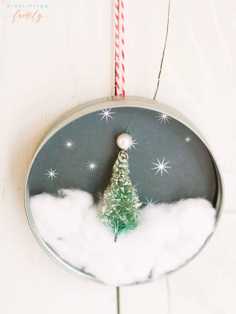 Mason Jar Ornament Craft