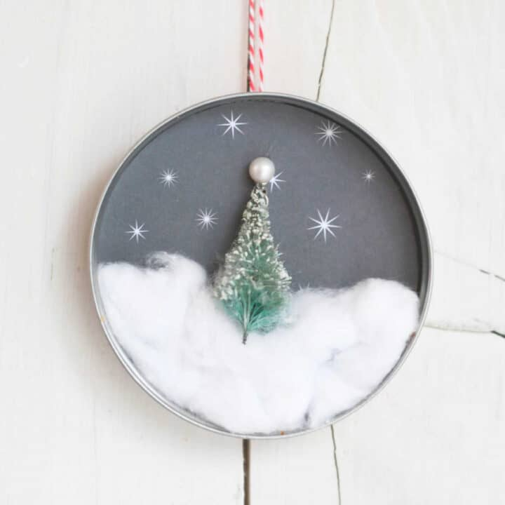 Mason Jar Lid Christmas Tree Ornament