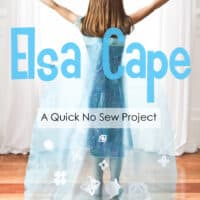 No-Sew ELSA CAPE (from Frozen)…a 'Do-It-Together' Project