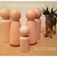 DIY FROZEN PEG PEOPLE