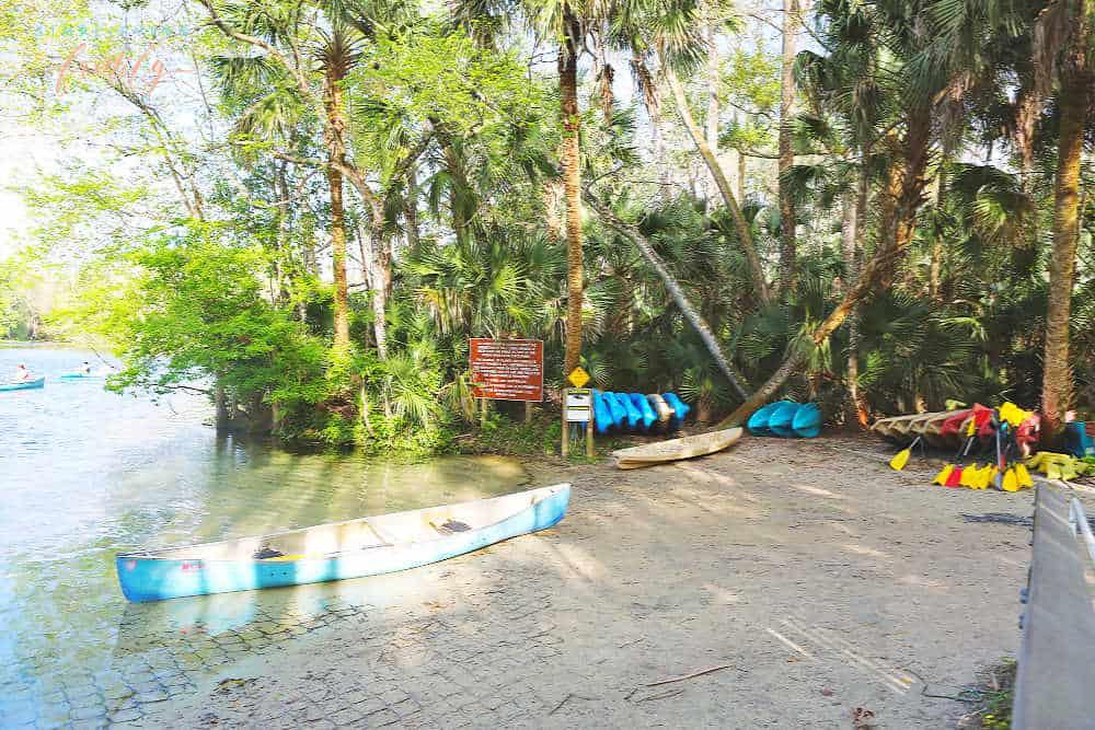 Wekiwa Springs canoe launch in Orlando North