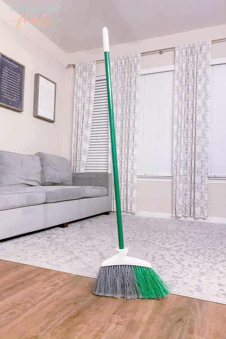 broom standing up
