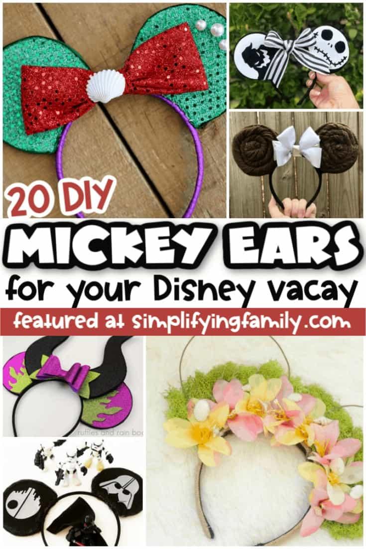 DIY Mickey and Minnie Ears