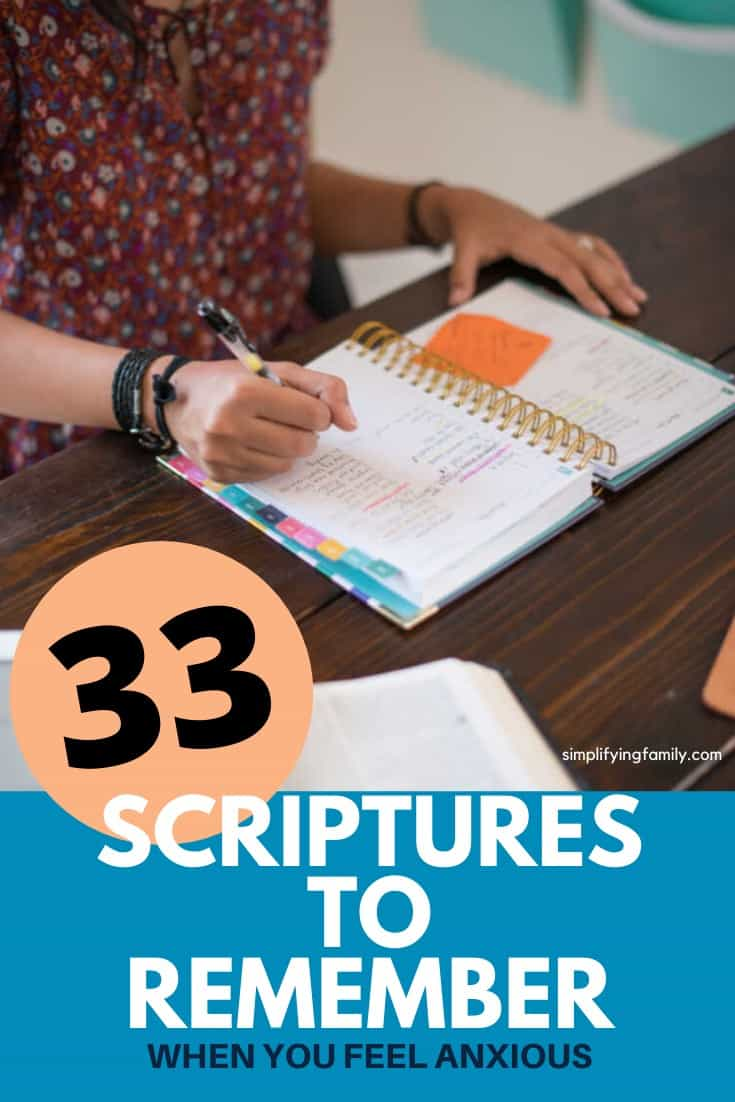Scriptures to Remember when you are anxious