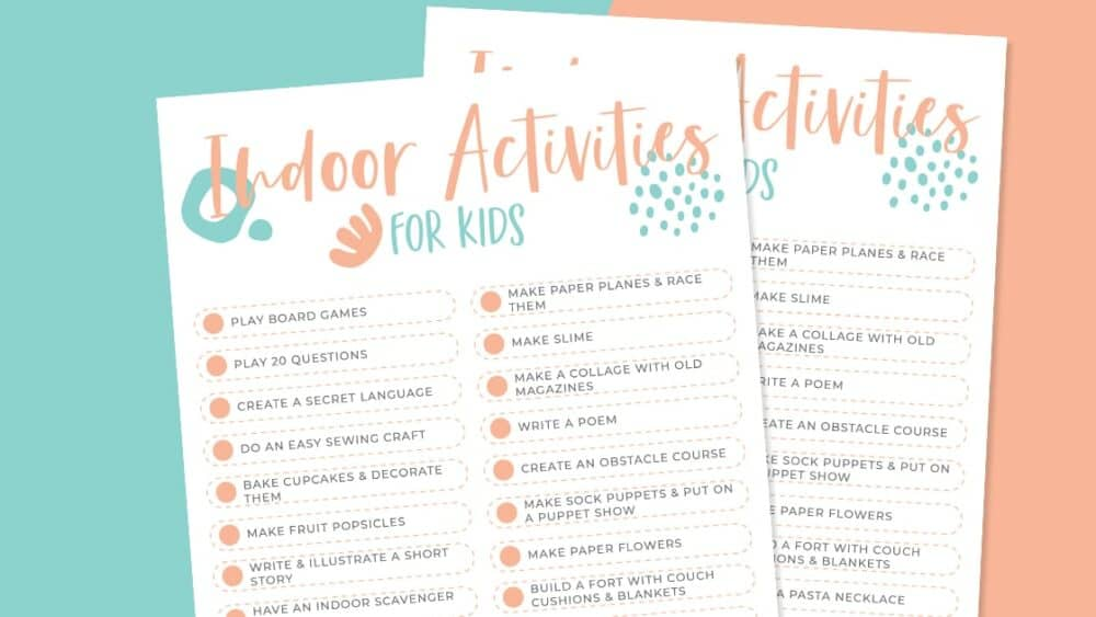 Indoor Activities for Kid When they are bored