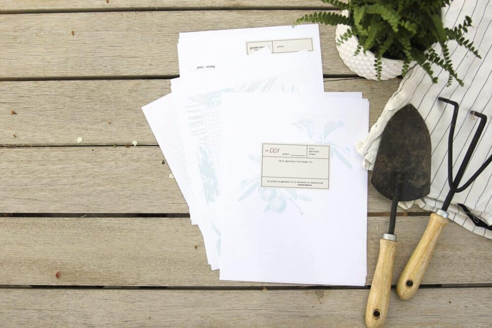 garden journal printable
