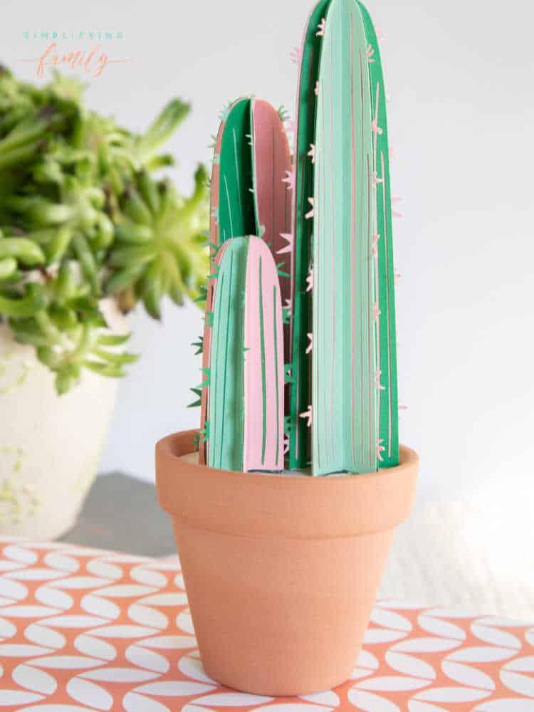 paper cactus craft