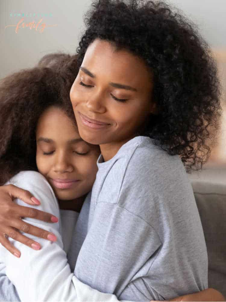 Mom and teen hugging _ Parenting teens during a crisis