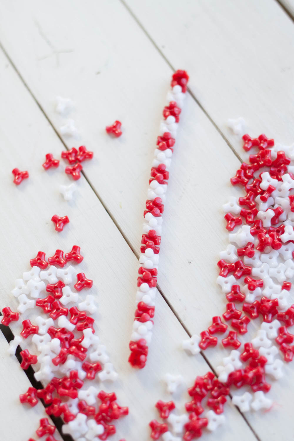 Candy cane pipe cleaners